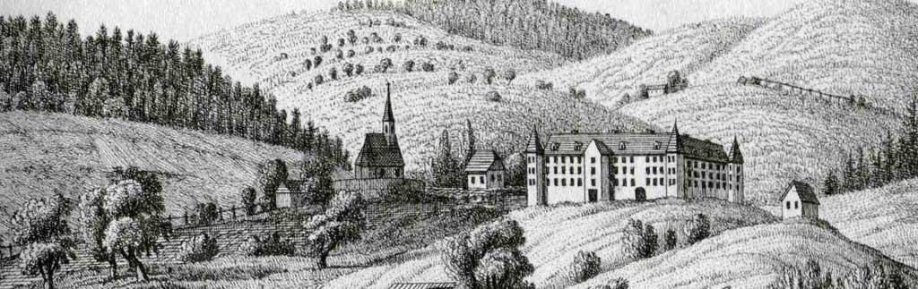 Historisches Bild Schloss Spielfeld